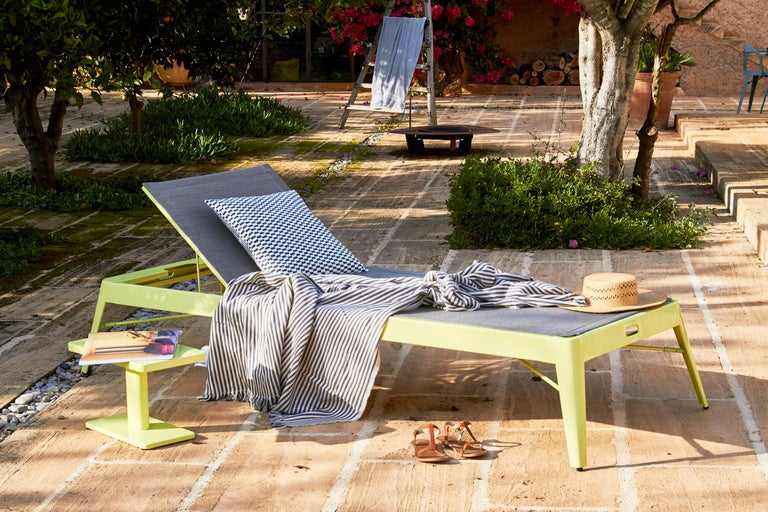Tolix Bain de Soleil Outdoor Lounge in Stainless Steel by Frederic Gaunet For Sale 8