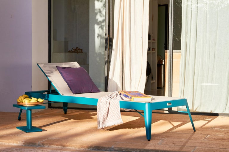 Tolix Bain de Soleil Outdoor Lounge in Stainless Steel by Frederic Gaunet For Sale 9