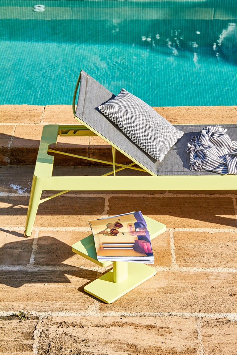 Contemporary Tolix Bain de Soleil Outdoor Lounge in Stainless Steel by Frederic Gaunet For Sale