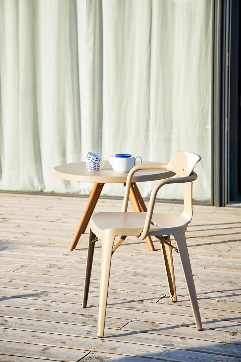 French Tolix T14 Chair in Stainless Steel by Patrick Norguet For Sale
