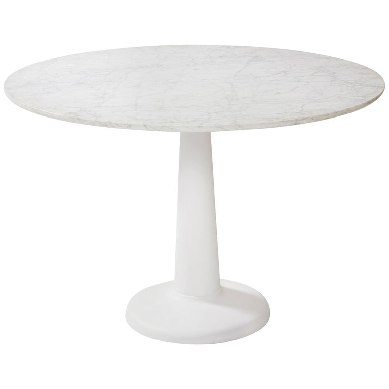 Tolix Table G in Steel with Marble Top by Kilian Schindler, US For Sale