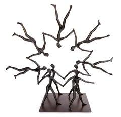 """Circle 9"" -gravity, woman artist, Israeli artist, expressions, acrobat, balance"