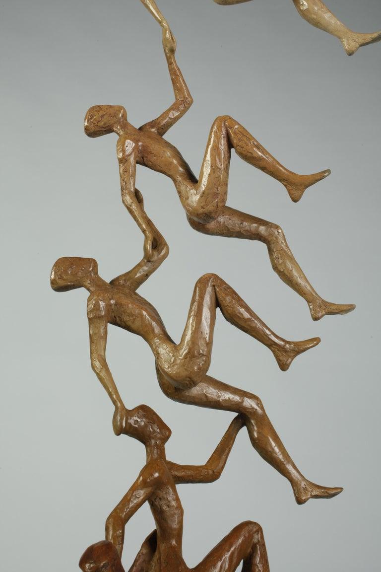 The Sky is No Longer the Limit N bronze, figurative large sculpture - Sculpture by Tolla Inbar