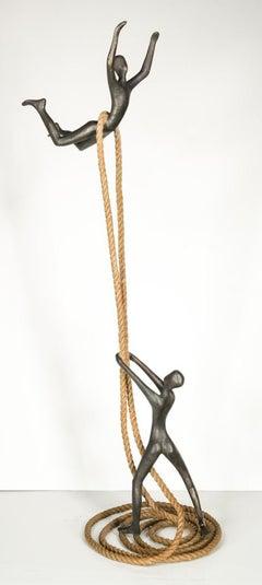 Tolla Inbar, Dynamic relation, Bronze sculpture