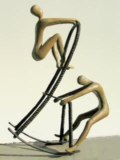 Tolla Inbar, Give and take, bronze sculpture