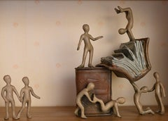 Tolla Inbar, Happy books,  Bronze sculpture