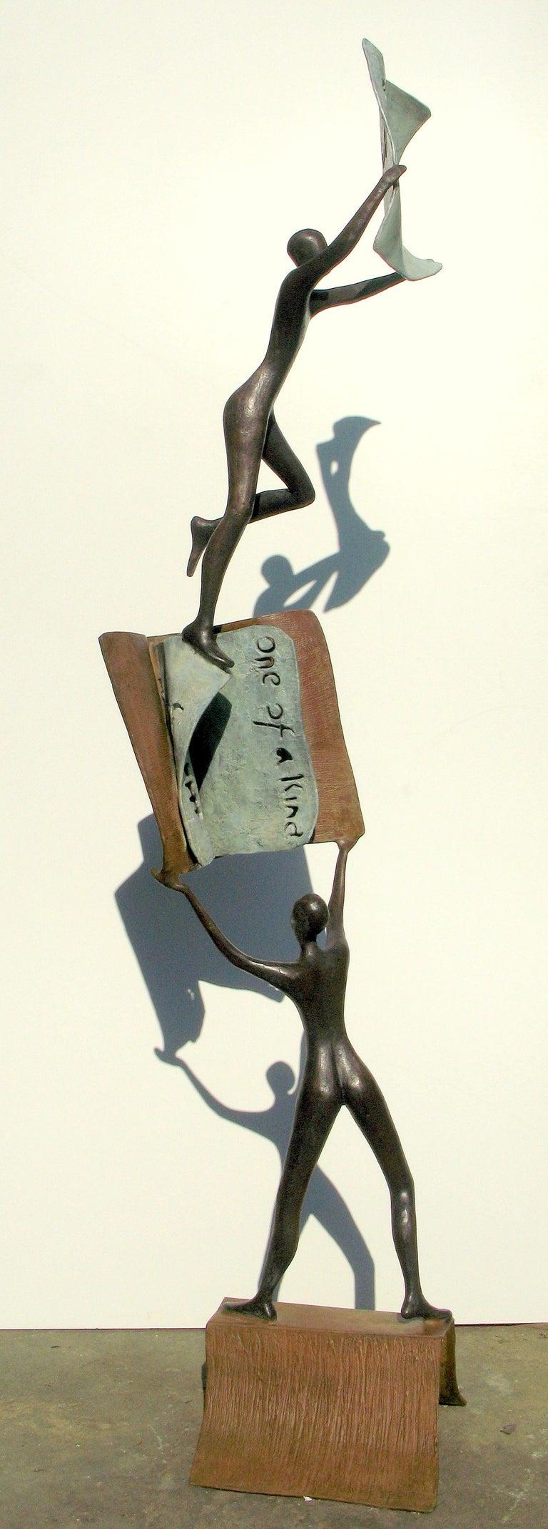 Tolla Inbar, My first book, Bronze sculpture - Sculpture by Tolla Inbar