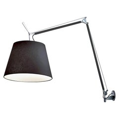 Tolomeo Mega Black Fiber Wall Lamp by Michele De Lucchi & Giancarlo Fassina