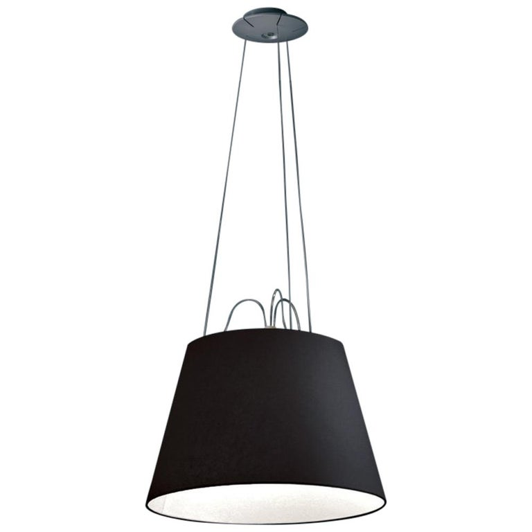 Tolomeo Mega Black Pendant by Michele De Lucchi & Giancarlo Fassina For Sale