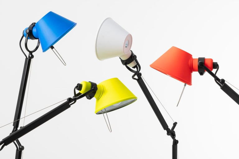"""I designed the Tolomeo in 1986. Perhaps I ought to say that I invented it, as in point of fact the idea for a new mechanism came before the lamp was created."" Michele De Lucchi. The iconic Tolomeo lamp is now available in vibrant pops of color."