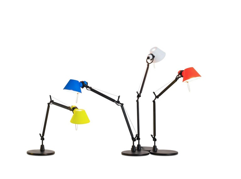 Italian Tolomeo Micro Table Lamp in Black & Yellow by Michele de Lucchi & Giancarlo Fass For Sale