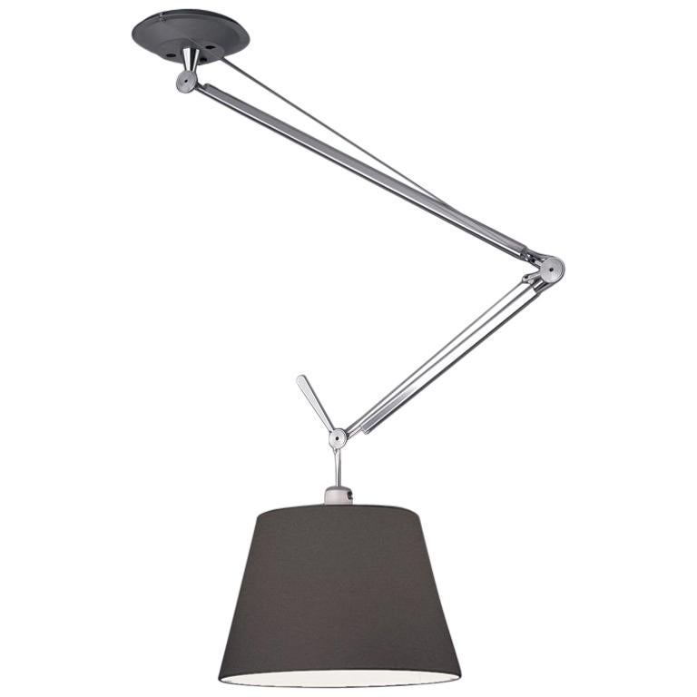 Tolomeo Off-Centre Fiber Pendant by Michele De Lucchi & Giancarlo Fassina For Sale