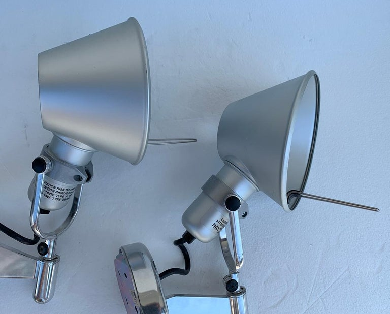 Modern Tolomeo Spot Wall Lights by Michele De Lucchi Giancarlo Fassina for Artemide For Sale