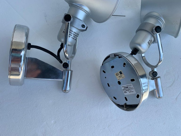 Italian Tolomeo Spot Wall Lights by Michele De Lucchi Giancarlo Fassina for Artemide For Sale