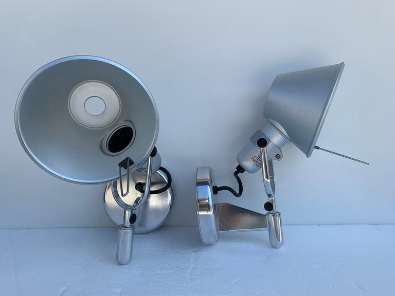 Tolomeo Spot Wall Lights by Michele De Lucchi Giancarlo Fassina for Artemide In Good Condition For Sale In Los Angeles, CA