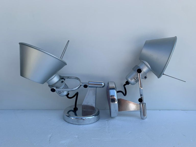 Contemporary Tolomeo Spot Wall Lights by Michele De Lucchi Giancarlo Fassina for Artemide For Sale