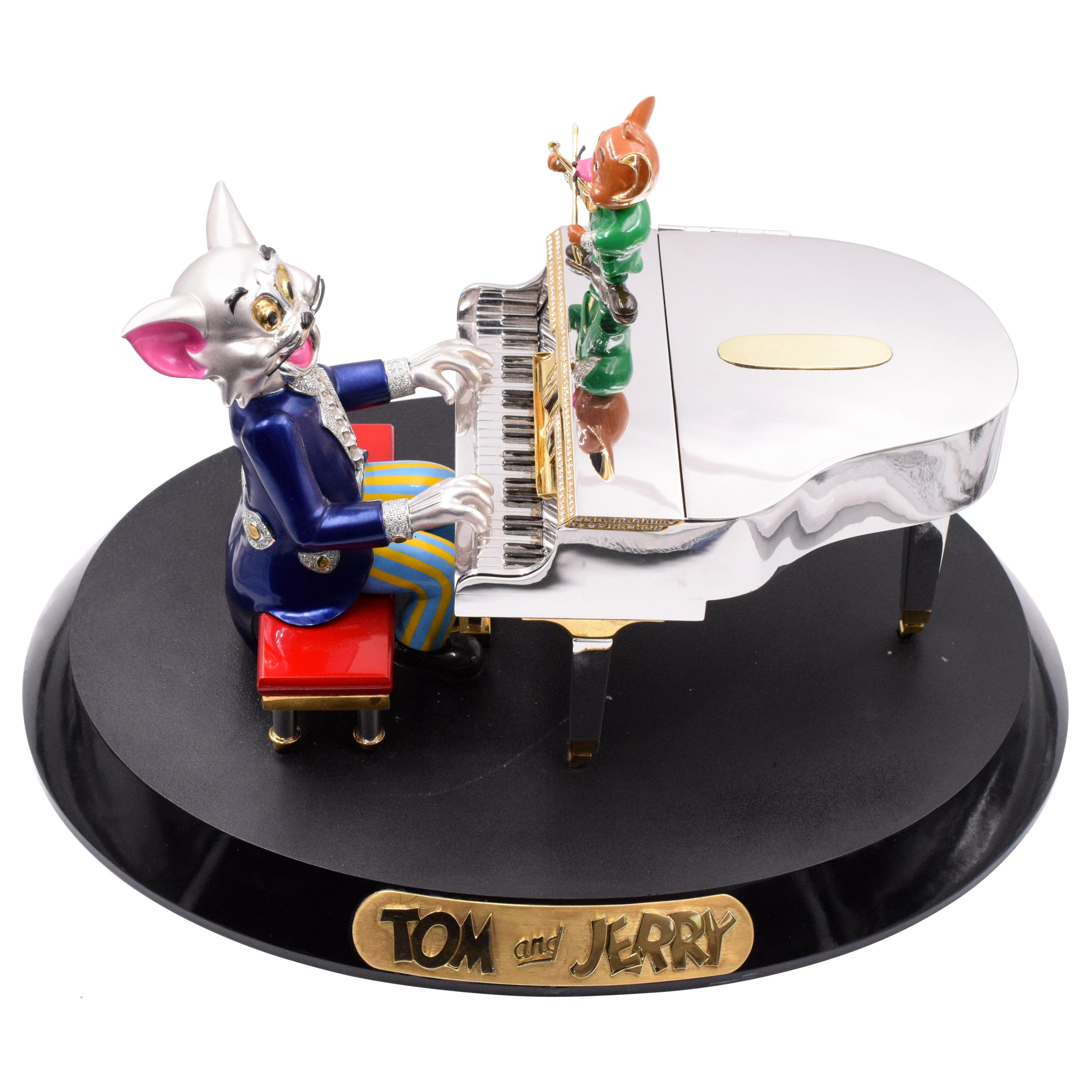 """""""Tom and Jerry""""   Diamond and Gold Miniature Model"""