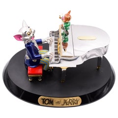 """Tom and Jerry""   Diamond and Gold Miniature Model"