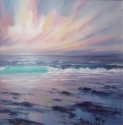 Atlantic Breakers - original landscape sea painting contemporary modern art