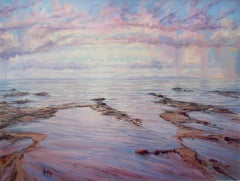 Atlantic Shore Reflections original seascape painting