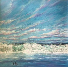 Day Breakers - Original landscape beach harbour painting oil contemporary