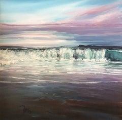 Evening bay Breakers original OIL painting CONTEMPORARY Art 21st Century