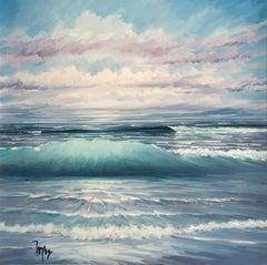 Light on the West Coast - original landscape painting contemporary modern art