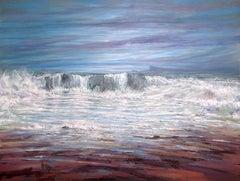 Machrihanish shore  original seascape painting