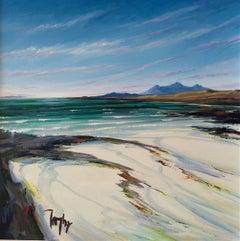 Sanna Bay - Original seascape water painting oil contemporary Art 21st Century
