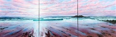 Summer Light Breakers (triptych) - original abstract sea sky landscape painting