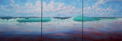 West Coast Breakers original abstract landscape painting
