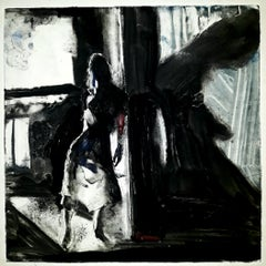 Eremitic, monotype powerful black and white, light and shadow