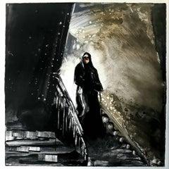 Sleepwalking 2020  #4, dramatic, black & white, noir, mystery, genre