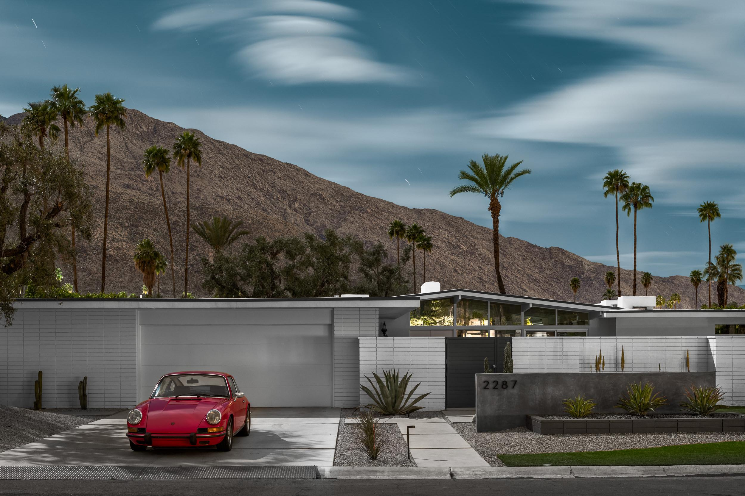 Mid Century Modern Architecture Photograph - Raspberry Camino - Tom Blachford's