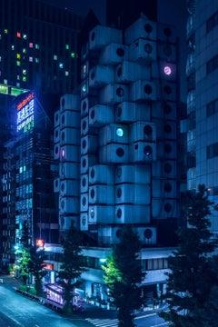 Nagakin Capsule Tower Japan - A Modern Architecture Noir Photograph