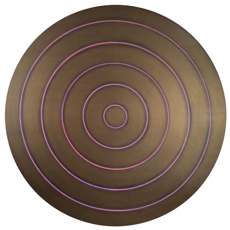 Bronze Target - Painting by Tom Bolles