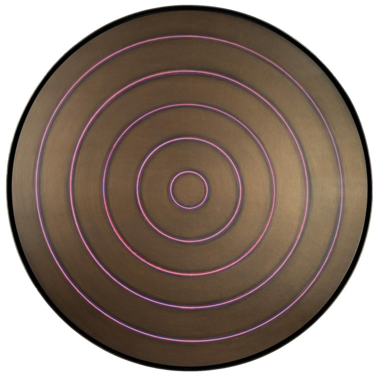 Tom Bolles Abstract Painting - Bronze Target