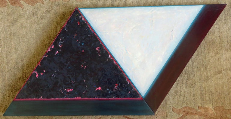 Tom Bolles Abstract Painting - Minimalist Abstract - Acrylic and sand on shaped canvas