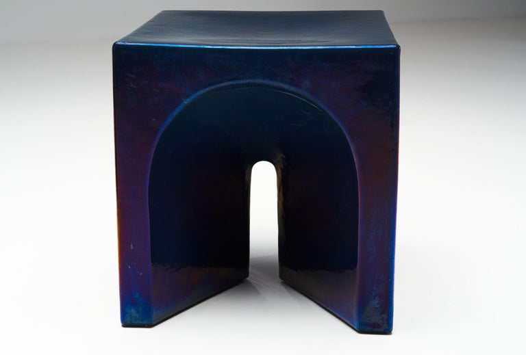Tom Bruinsma Glazed Chair and Table for Mobach Ceramics, the Netherlands For Sale 5