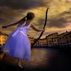 Lucca Luna-30 x 30 inch framed photomontage by Tom Chambers