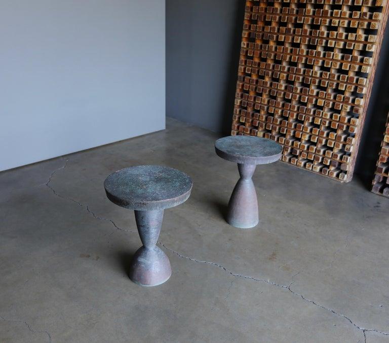 Modern Tom Corbin Bronze Alexandra Occasional Tables