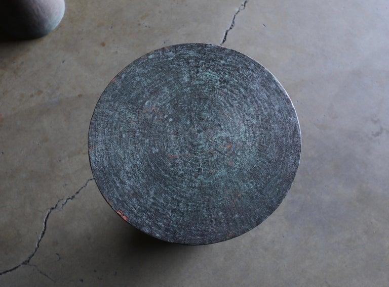 Tom Corbin Bronze Alexandra Occasional Tables In Good Condition In Costa Mesa, CA
