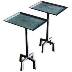 Tom Corbin Bronze Winston Occasional Tables