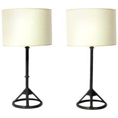Tom Corbin Solid Bronze Table Lamps