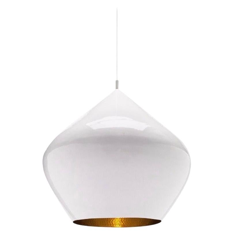 Tom Dixon Beat Stout Pendant Light Fixture, White, Modern Lighting, UK