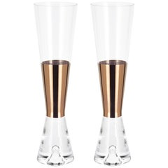 Tom Dixon Champagne Glasses Copper, Set of 6
