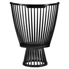 Tom Dixon Fan Chair in Black Ash & Leather