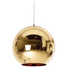 Tom Dixon Large Bronze Copper Shade Pendant Light, Black Canopy