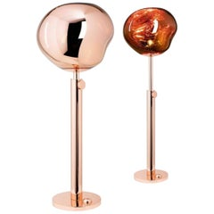 Tom Dixon Melt Copper Floor Light, Globe Lighting, Futuristic Modern, 2019