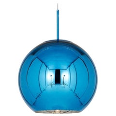 Tom Dixon Minimal Blue Copper Pendant Light, Small, Limited Edition, Jeff Koons